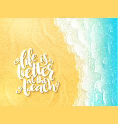 Hand lettering summer inspirational label - vector