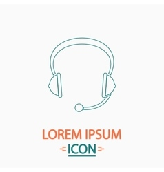 Headphone computer symbol vector