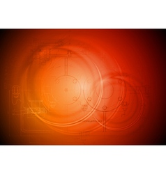 Hi-tech orange background vector image vector image