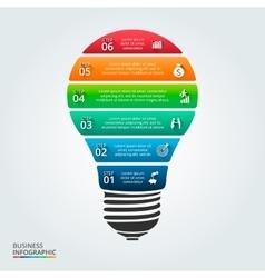 Lightbulb for infographic vector