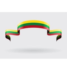 Lithuanian flag background vector