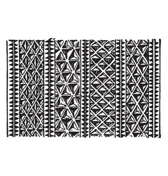Maori paddle are detail of carved pattern vintage vector