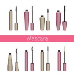 Mascara set vector