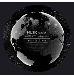 Music album cover templates world globe global vector