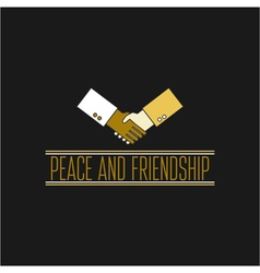 Peace and friendship concept icon thin line for we vector