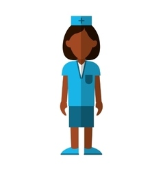 Professional nurse hat uniform medical vector
