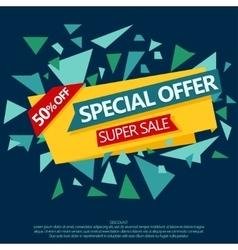 Sale special offer paper banner vector