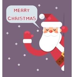 Santa Looking Out Corner Cartoon Character Happy vector image vector image