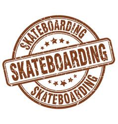 Skateboarding stamp vector