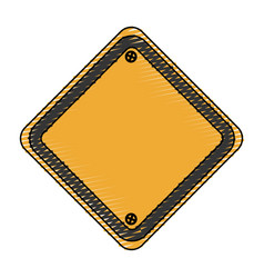 Traffic sign empty icon vector