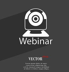 Webinar web camera icon symbol flat modern web vector