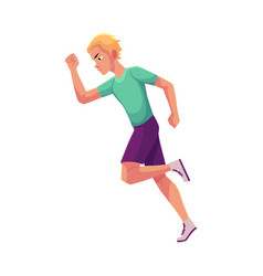 young and handsome male runner sprinter jogger vector image vector image