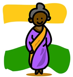 Asia people indian woman vector