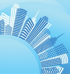 City real estate background vector