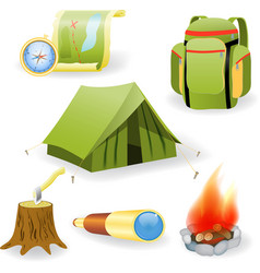 Camping collection vector