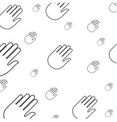 hand stop symbol pictogram vector image