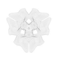 warped parametric surface shape vector image