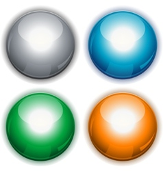Glossy web circle buttons vector image