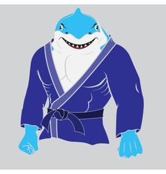 Judo man sharkeps 10 vector