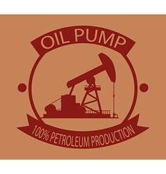 Oil pump design vector