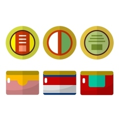 Canned food flat icons vector