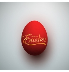 Easter egg with holiday lettering vector