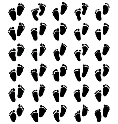 Prints of baby feet vector