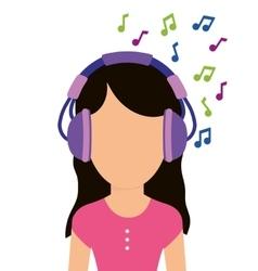 Graphic design of music online vector