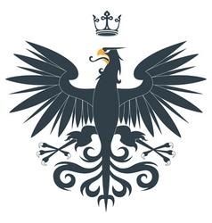 Heraldic eagle14 vector image