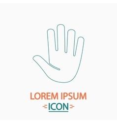 Stop hand computer symbol vector