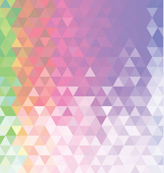 abstract colorful background with triangle 03 vector image vector image