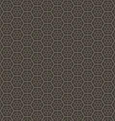 Abstract geometric hexagon seamless pattern vector image