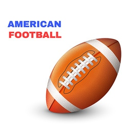 American football isolated on white background vector