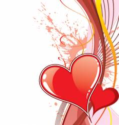 background heart vector image vector image