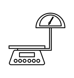 Balance scale logistic icon vector
