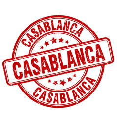 Casablanca red grunge round vintage rubber stamp vector