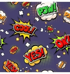 Colorful speech bubbles and explosions in pop art vector