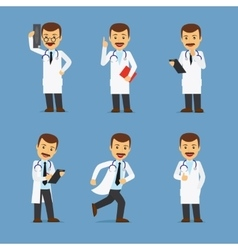 Doctor character with x-ray and stethoscope vector image vector image