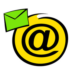 E-mail sign icon icon cartoon vector