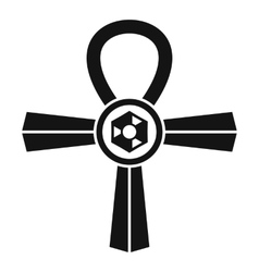 Egypt ankh symbol icon simple style vector