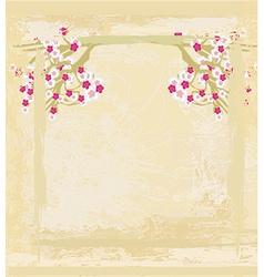 Elegant floral invitation card vector
