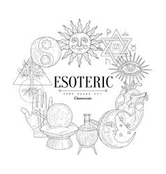 Esoteric collection vintage sketch vector