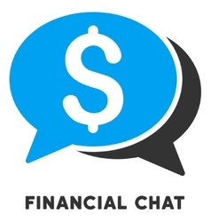 Financial chat icon with caption vector