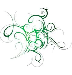 Fine Swirl tattoo vector image vector image