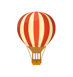 flat hot air balloon symbol for or vector image