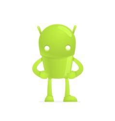 funny cartoon android vector image