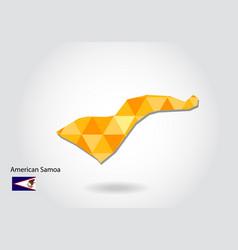 Geometric polygonal style map of american samoa vector