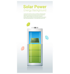 Green energy concept background with solar panel vector
