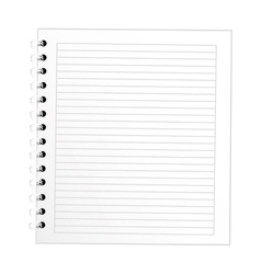 note book school isolated icon vector image