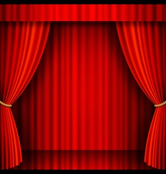 Red Theater Stage vector image vector image